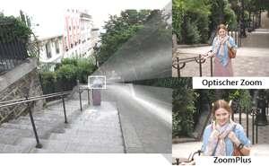 Weitwinkelobjektiv mit 8fach optischem Zoom und 16fach ZoomPlus