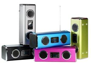 der MusicMan GIANT ist in 5 trendigen Farben erhältlich