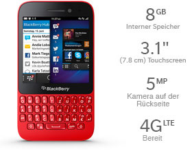 Das BlackBerry Q10 Smartphone