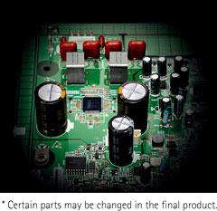 Hocheffizienter Digitalverstärker mit ausgewählten Bauteilen