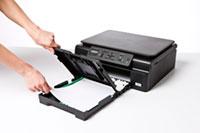 Geschlossene Papierkassette