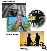 Nikon D5200 Effektmodus mit kreativen Optionen für Foto und Film