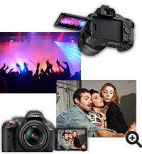 Nikon D5200 Schwenk- und drehbarer Monitor für überraschende Perspektiven