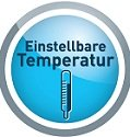 Einstellbare Temperatur
