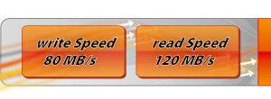 Ihr SilverSpeed = SuperSpeed (Schreiben bis zu 80 MB/sec.)