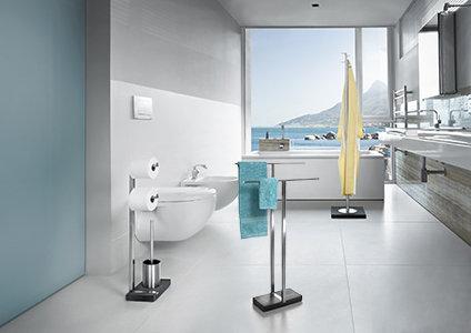 blomus 68624 doppel handtuchst nder menoto edelstahl matt 39 db950. Black Bedroom Furniture Sets. Home Design Ideas
