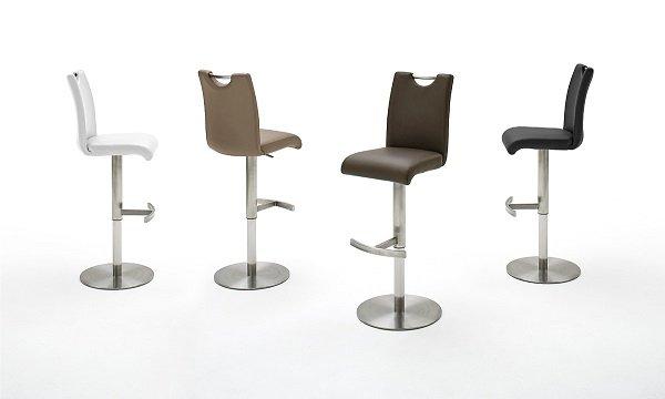 barhocker alesi mit griffloch 1x farbe schwarz gestell edelstahl geb rstet bezug. Black Bedroom Furniture Sets. Home Design Ideas