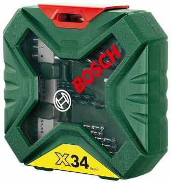bosch 34 teiliges x line bohrer und schrauber set 2607010608 baumarkt. Black Bedroom Furniture Sets. Home Design Ideas