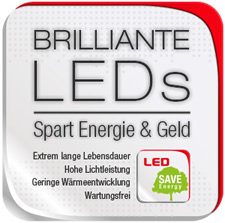 Brilliante LEDs - Spart Energie & Geld