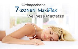 Schlafende Frau auf MaxiFlex 7-Zonen Matratze