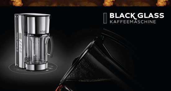 Black Glass Kaffeemschine