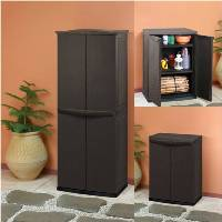keter 17190092 universalschrank rattan style utility shed kunststoff braun 39 db617. Black Bedroom Furniture Sets. Home Design Ideas