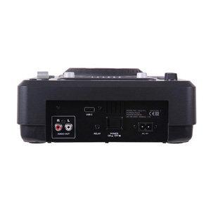 Anschlüsse: 1 x USB-Eingang (oben liegend), 1 x USB-Eingang (hinten liegend), 1 x Stereo-Cinch-Audio-Ausgang, 1 x 3,5mm-Klinke-Kabel