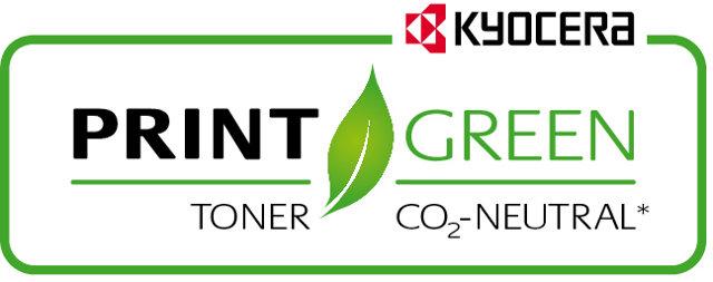 CO2-neutraler Toner von Kyocera. Verbessert Ihre Klimabilanz.