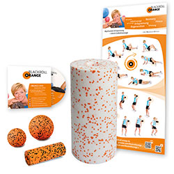 Blackroll Orange (Das Original) - DIE Selbstmassagerolle - Starter-SET MED