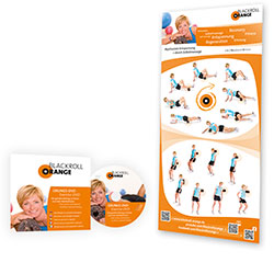 Blackroll Orange (Das Original) - DIE Selbstmassagerolle - Starter-SET MED - Weitere Features