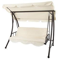 luxus schaukel hollywoodschaukel auflagen sonnenschutz. Black Bedroom Furniture Sets. Home Design Ideas