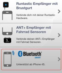 Runtastic Bluetooth Smart Auswahl