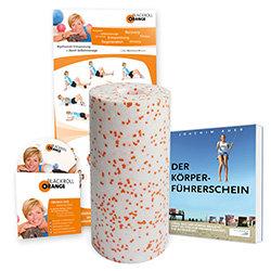Blackroll Orange (Das Original) - DIE Selbstmassagerolle - MED Bundle inkl. Übungsposter und Übungs-DVD, Buch