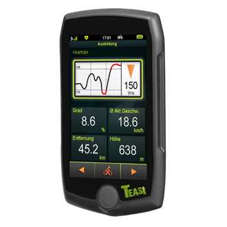 TEASI pro pulse & speed - Fahrrad- & Wandernavigation - Weitere Features