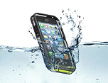 Fantom 5 - wasserdichte Schutzhülle für iPhone 5, 5S ; (IPX8 zertifiziert),