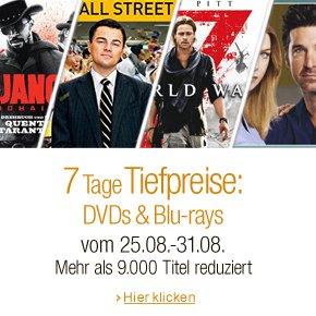 7 Tage Tiefpreise: DVDs & Blu-rays