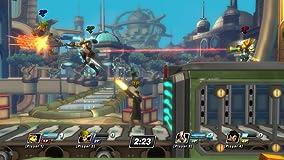 Bis zu vier Spieler gleichzeitig treten im Versus-Modus oder Zwei-gegen-Zwei Koop-Modus gegeneinander an.