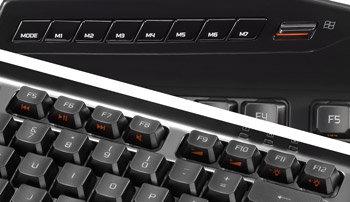 Mad Catz S.T.R.I.K.E. 3 Spieletastatur für PC - Praktisch angeordnete Schnellzugriffstasten