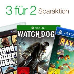 3 Games kaufen - nur 2 bezahlen!