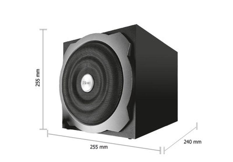 Rms 60 Watt avec Caisse de basse pour PC: Informatique