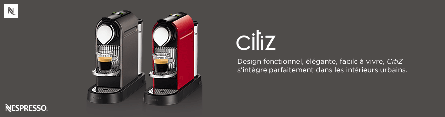 CitiZ, la plus contemporaine et élégante des machines Nespresso