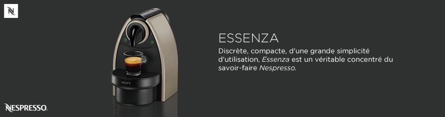 Discrète, compacte, d'une grande simplicité d'utilisation, Essenza est un véritable concentré du savoir-faire Nespresso.