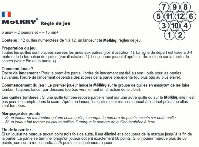 notice Molkky français