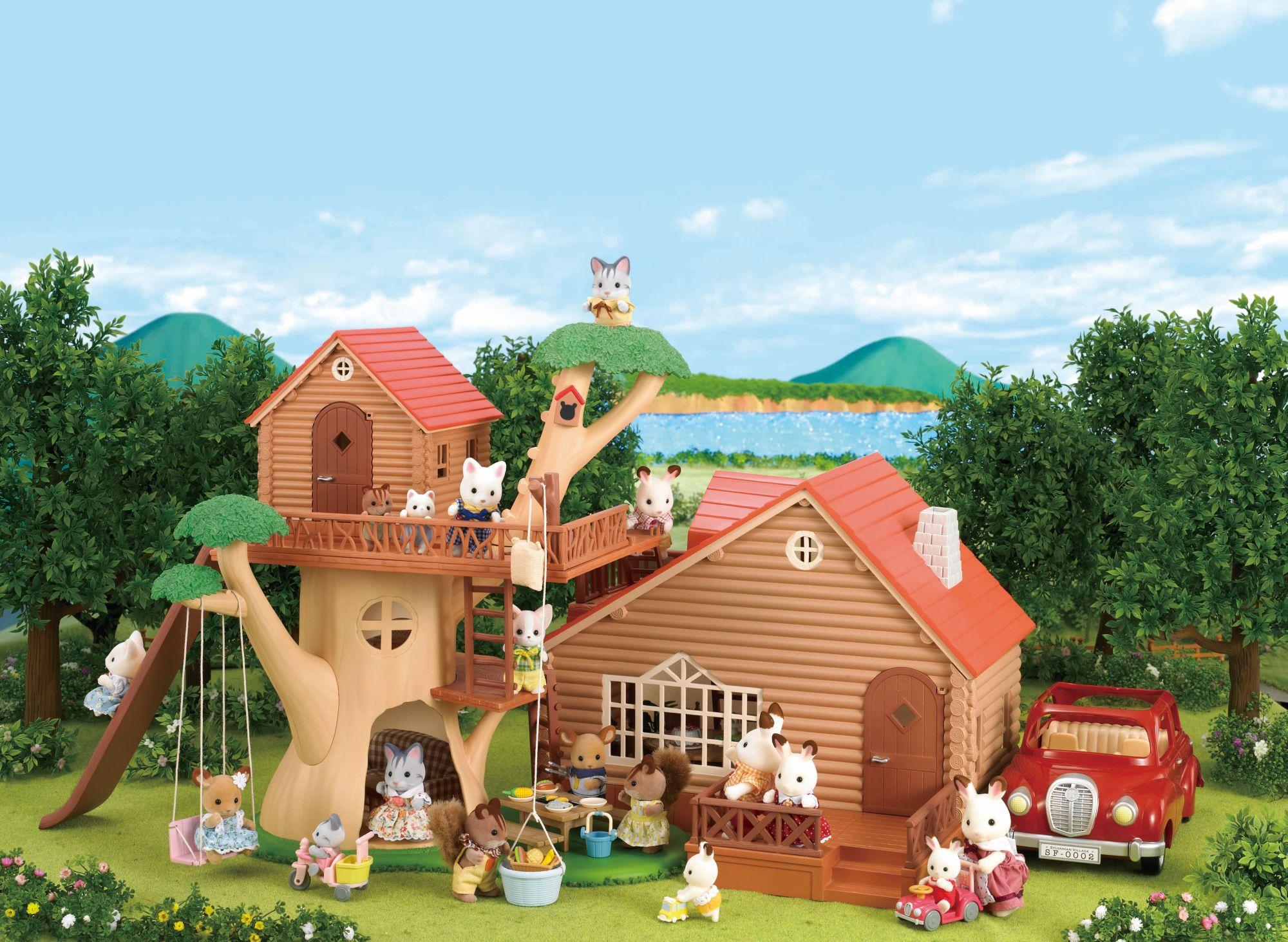sylvanian families 2881 mini poup e chalet jeux et jouets. Black Bedroom Furniture Sets. Home Design Ideas