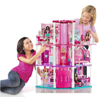 barbie x7949 maison de poup e h tel particulier jeux et jouets. Black Bedroom Furniture Sets. Home Design Ideas