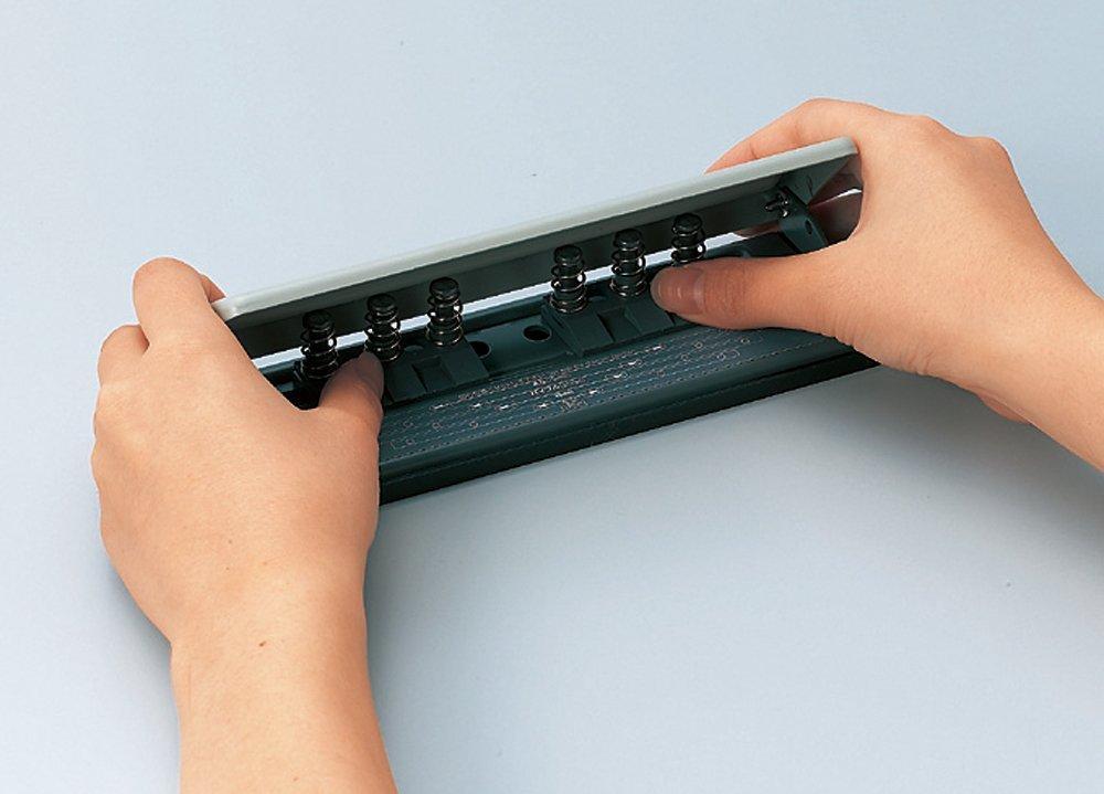 オープン工業 穴あけパンチ 手帳用 6穴パンチ 移動式 PU-462