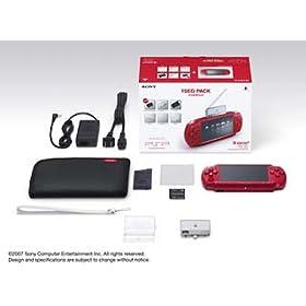 PSP「プレイステーション・ポータブル」 ディープ・レッド ワンセグパック(PSPJ-20001)