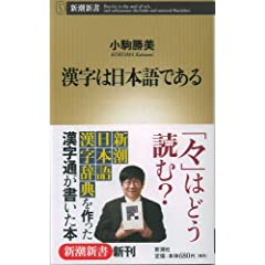 漢字は日本語である (新潮新書 253)