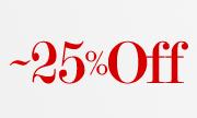 25%OFF-