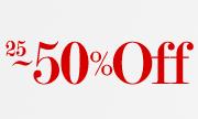 25%-50%OFF