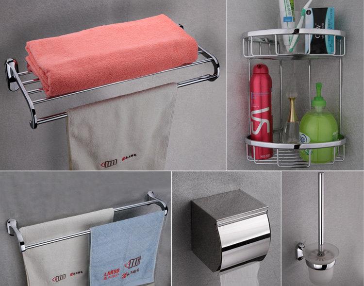 挂件304不锈钢浴室挂件毛巾架图片