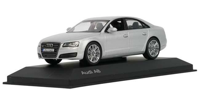 1:43奥迪a8车模/银色5011008113-玩具