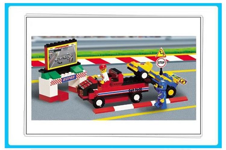 小鲁班拼插积木 方程式赛车系列 F1大奖赛 457块积木 M38 B5500
