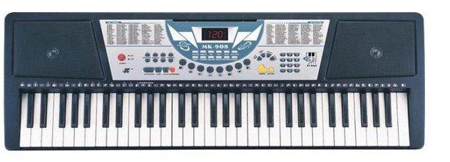 0 星 美科电子琴908    东西还可以,物流也给力,就是电流声太大了!