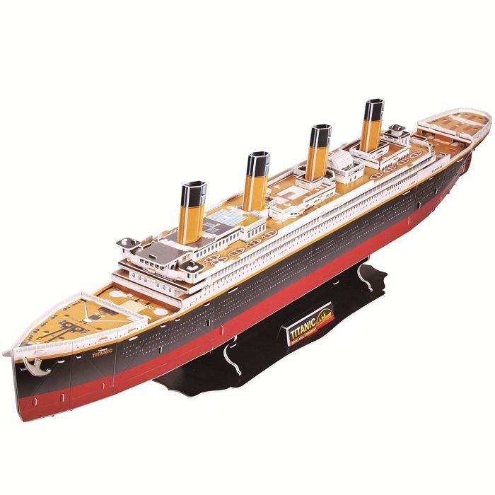 cubicfun 乐立方 3d立体拼图玩具 船模系列 泰坦尼克号 五星难度 t40