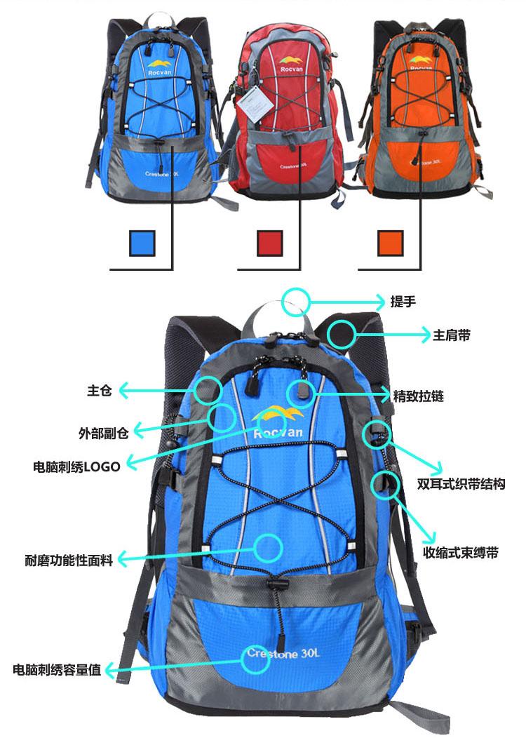 登山双肩背包带子系法图解