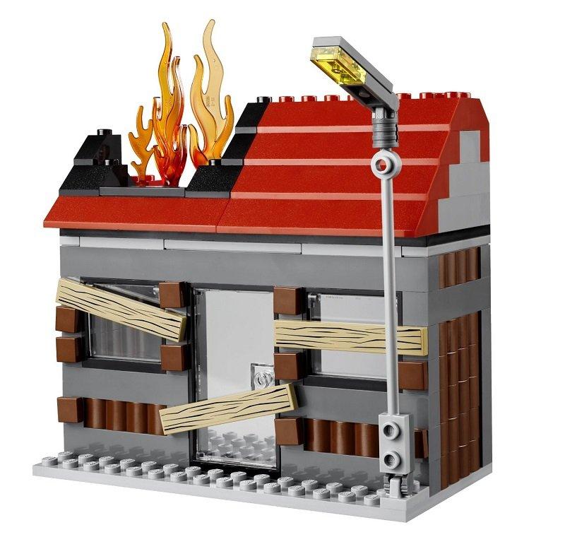 乐高红色房子图片