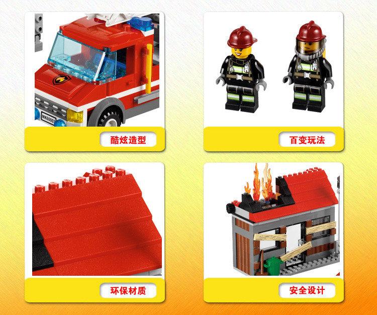 眼下只有乐高城市的消防员