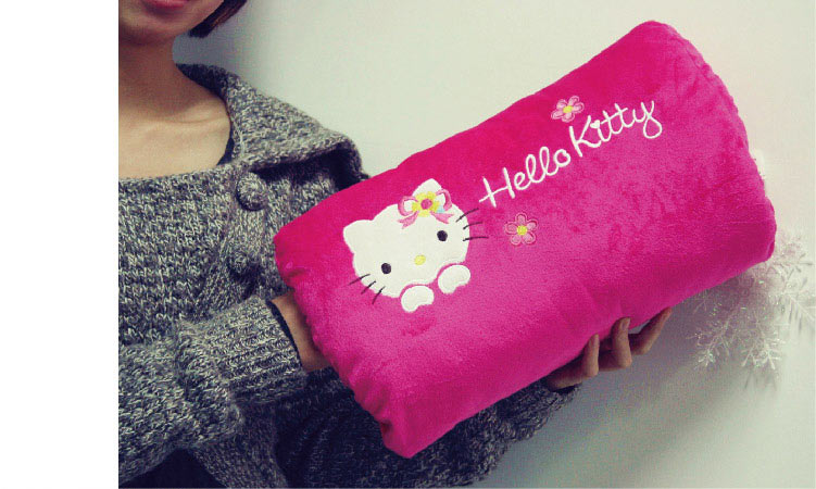 回至aoger 澳捷尔 hellokitty系列 正版毛绒 kt长方暖手枕(粉色款)