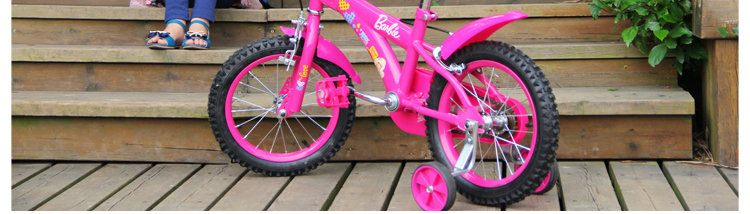 barbie芭比 可爱芭比14寸儿童自行车 bcx31028-b 梅红